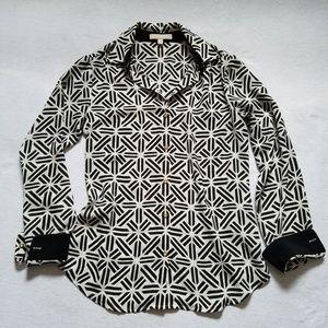 Banana Republic geometric print career shirt XS